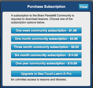 Brain Parade® Community Subscriptions