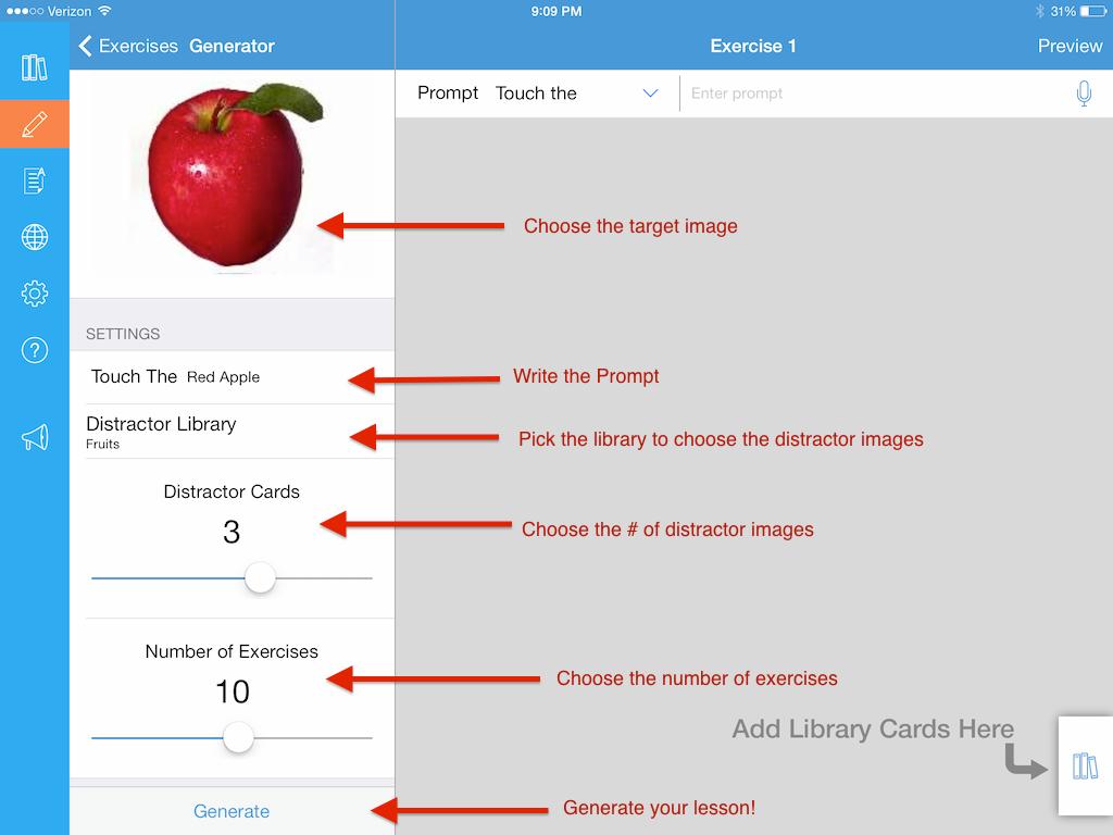 Lesson Generator iPad App